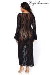 Robe longue stretch Queen Deep-V