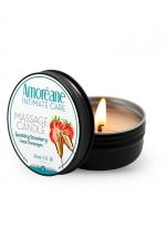 Bougie de massage vin petillant à la fraise - Amoreane : Bougie de massage qui offre un parfait environnement chaud et sensuel pour vos moments intimes. Parfum Vin pétillant à la fraise.