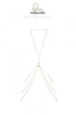Chaine de corps en 8 dorée : Des chaines corporelles en forme de 8 à porter avec vos looks préférés, de la lingerie ou à même le corps, collection Magnifique par Bijoux Indiscrets.
