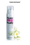 Mousse massage crépitante - monoï : Cosmétique érotique spécial massages sensuels parfum monoï.