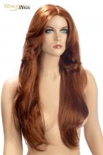Perruque Rihana rousse - World Wigs : Perruque longue rousse qualité Premium, avec des cheveux longs et brillants pour un look flamboyant et séducteur.